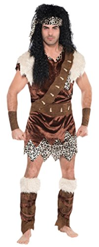 Karnevalsbud - Herren Männer Neandertaler Urzeit Kostüm, Tunika, -