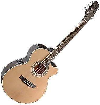 Stagg SA40MJCFI-N - Guitarra acústica con cuerdas metálicas, color natural
