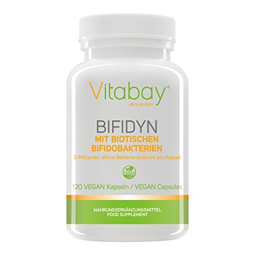 Bifidyn - biotische Bifidobakterien - 3 Milliarden aktive Bakterienkulturen pro Kapsel (120 vegane Kapseln)
