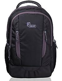 F Gear Prestige Lite 28 Liters Backpack(Black,Grey)