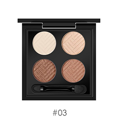 Fards à Paupières Pearl Waterproof Durable Palette de Cadeau Saint-Valentin Palette De 4 Couleurs Shimmer Eyeshadow (#03)