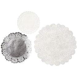 Talking Tables tapetes crochets a lunares 'PPS.' Plata. (Talla mixa) Para una mesa de fiesta
