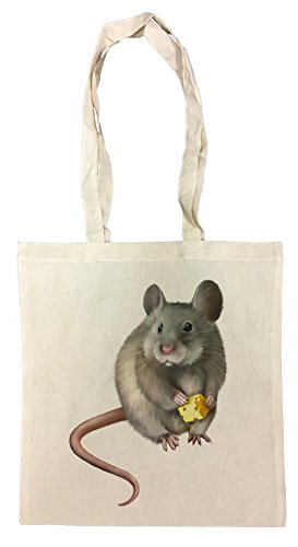 rata-del-raton-bolsa-de-compras-de-algodon-reutilizable-cotton-shopping-bag-reusable