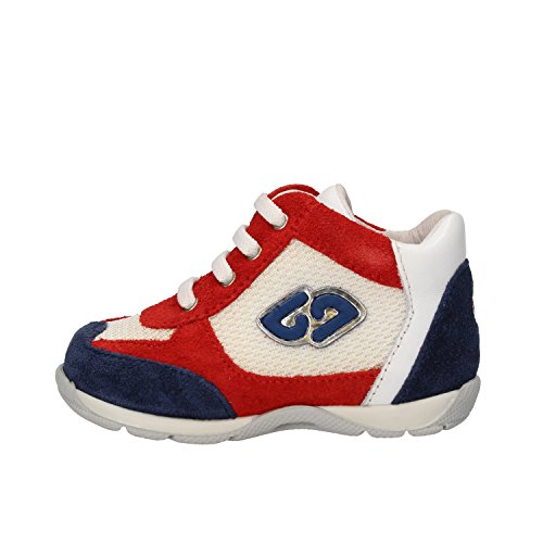 BALDUCCI bambino sneakers rosso blu bianco / blu ghiaccio camoscio tessuto (18 EU, Rosso/blu/bianco)