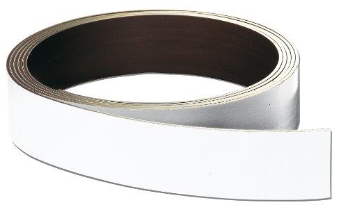 Franken LS20 Lagerschilder-Rollenware magnetisch (Höhe 20 mm, Stärke 0.8 mm) 10 m, weiß