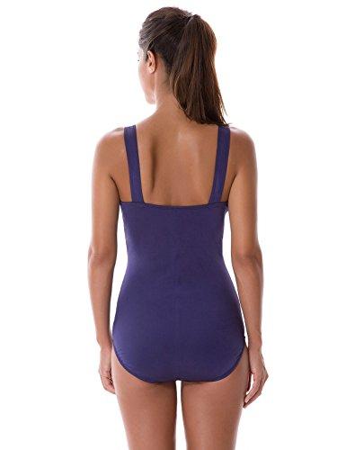 SYROKAN Damen Sports Schwimmanzug - Endurance Einteiler Einlagen Badeanzug Marine