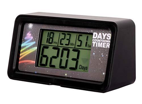 NINE-RONG - Countdown-Uhr/Timer, digital, für 9.999 Tage, mit LCD Hintergrundbeleuchtung, Countdown zu Ruhestand, Hochzeit, Urlaub, Weihnachten, Ereignis, für Klassenzimmer, Küche, Kochen