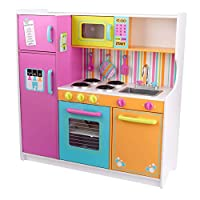 KidKraft Large Pastel Wooden Pretend Play Toy Kitchen for Kids with role play Accessories Included