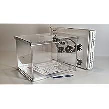 AKRIL-BOX Urna para votaciones, sorteos, promociones, con cerradura, DESMONTABLE, 25x35x25cm