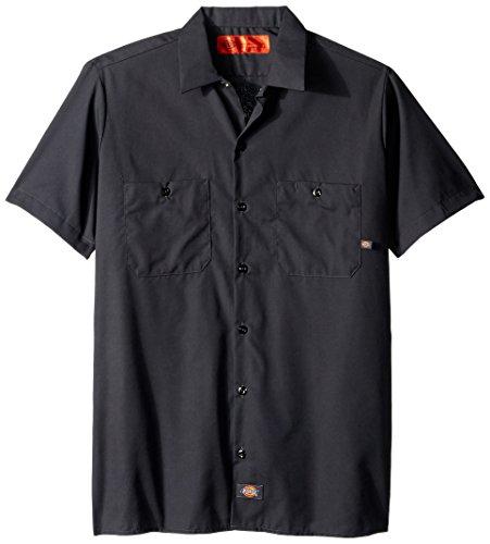 Dickies occupational workwear ls535ch da uomo a maniche corte camicia da lavoro industriale, m, dark charcoal, 1
