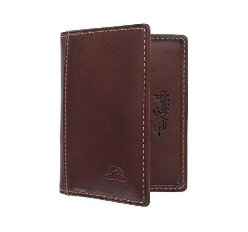 Tony Perotti Kreditkartenhalter, vollnarbiges Leder, mit RFID-Schutz 1011_1 Braun