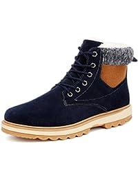 Homme Bottes Lacet de neige chaud Waterproof Botte d hiver Boots ad2d9d1fb850