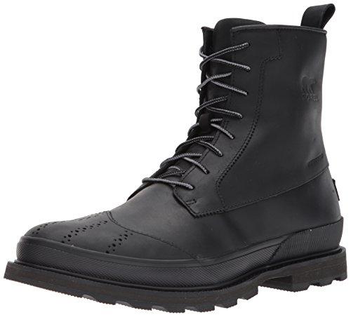 Sorel Men S Madson Wingtip Waterproof Oxford Boot Black