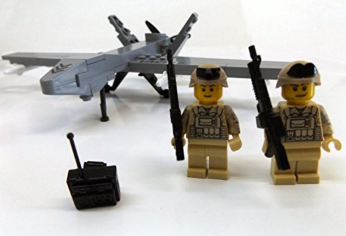 Modbrix 2147- ★ US AIR FORCE Drohne MQ-9 Reaper inkl. custom US ARMY Special Forces Soldaten aus original Lego© Teilen ★ - 3
