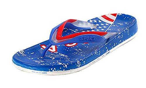Black Temptation American Flag Patrón Flop Sandalias Sandalias de Verano Para Hombres - Azul