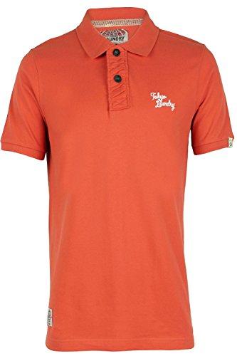 Tokyo Laundry Rochester Herren Geknöpft Freizeit Polo T-shirt Paprika