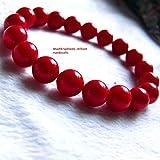 Coral Bracelet, Certified Coral Moonga Bracelet, 8mm Beads Size Free Size Bracelet For Any Wrist
