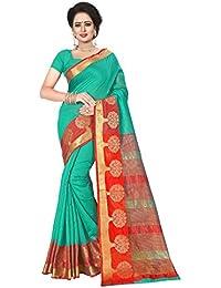 Ecolors Fab Women's Cotton Saree With Blouse Piece (Bal_Mu_Gotta_Saree )