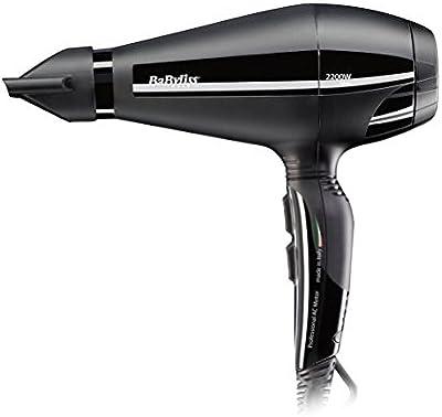 BaByliss Pro Silence – Secador de pelo profesional, 2200 W, Iónico, secado ultra-rápido 110 km/h, 6 velocidades/temperaturas, aire frío