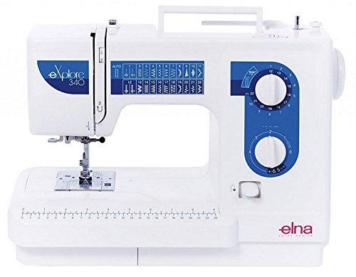 Elna Nähmaschine eXplore340 mit Freiarm, 25 Nähprogramme, stabile Kofferhaube, 1Stufen Knopfloch