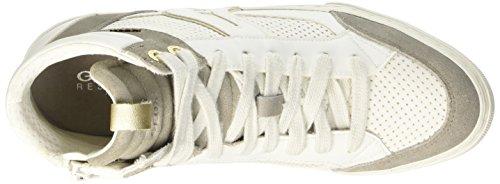 Geox Damen D New Club A Sneaker Weiß - weiß