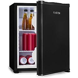Klarstein Nagano S Mini-réfrigérateur - capacité 38L, réfrigération de 0-8°C, 0dB, silencieux, hauteur 54,5 cm, noFrost, dégivrage automatique, 2 tablettes, 2 compartiments porte, noir