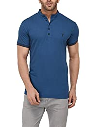 Youthen Cotton Mandarin Collar T-Shirt
