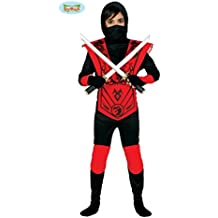 Shinobi Kostüm Ninja Kämpfer Verkleidung für Jungen Samurai Krieger 152  164 cm