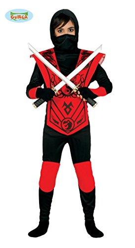 Guirca Roter Ninja Kämpfer Kinderkostüm Fasching Kostüm Jungen -
