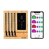 MEATER Block | Premium Kabelloses Smart-Fleischthermometer für Ofen Grill Küche BBQ Smoker Rotisserie mit Bluetooth und WiFi Digitalverbindung