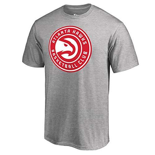 T-Shirt Herren NBA Fan Atlanta Hawks Trikot Sommer Freizeit Sport Baumwolle Kurzarm Rot