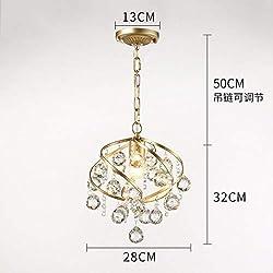 Lámparas de techo de cristal claro Lujoso, moderno, ligero, dorado, empotrado, accesorio de luces de techo para cocina, comedor, sala de estar, pasillo del vestíbulo (E27 / E14) (color : I)
