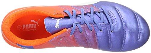 Puma Evopower 4.3 Fg Herren Fußballschuhe Mehrfarbig (Blue Yonder-puma White-SHOCKING Orange 03)