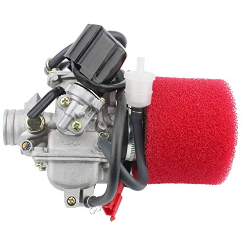 Careful Gy6 125cc 150cc Pd24j Carburetor Carb With Drian Tube Hammerhead Sunl Roketa Kazuma Taotao Atv Go Kart Scooter Parts Pure White And Translucent Atv,rv,boat & Other Vehicle Atv Parts & Accessories