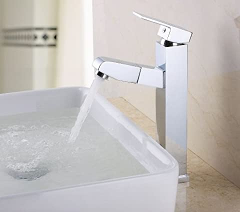 KES L3903B Bathroom/Kitchen Single Lever Vessel Sink Faucet with Pull-Out
