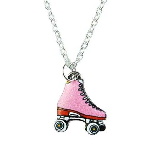 TFB–Rosa para patines colgante collar–caja de regalo disponible