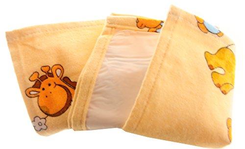Wickelauflage Flanelltuch mit PEVA Rückseite Wickelunterlage 50x60 Flanell Tuch Cloth (Gelb)