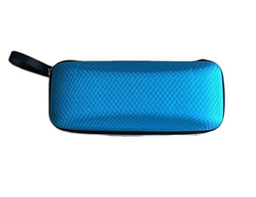 Da.Wa Glasses Case Brillenetui-Gummierte Außenschale harte Außenschale Zipper-Box fur Sonnenbrille,Blau