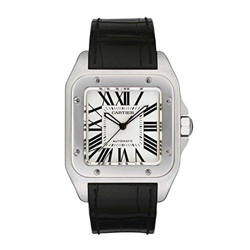 cartier-santos-100-homme-38mm-bracelet-cuir-noir-boitier-acier-inoxydable-automatique-montre-w20073x