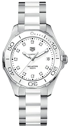 Tag Heuer Aquaracer Diamond 35 mm Stainless Steel Bracelet & Case Women's Quartz Watch way131d. ba0914