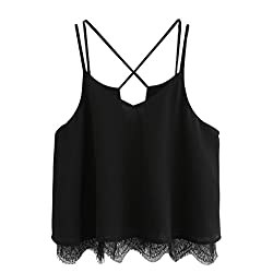 Women's Tops Vest, Wawer Lace Sleeveless Casual Tank Blouse Summer Tops T-Shirt Great For Sports/Dance/Club/Party/Daily/Beach from Wawer