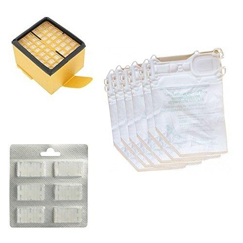 6 sacchetti + 6 profumi + 1 filtro epa originali per folletto vk 135 136 aspirapolvere vorwerk originale