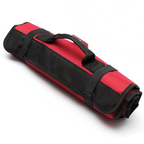PIXNOR Sacoche à outils enroulable à 22 poches (rouge)