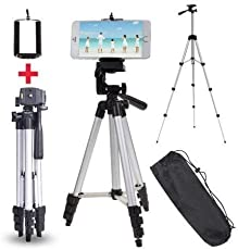 Rextan Tripod 3110 Portable & Foldable Mobile Camera Tripod with Mobile Clip Holder Compatible with All Smartphones