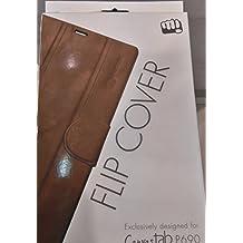 Micromax Orginal Flip Cover For Canvas Tab P690- Brown