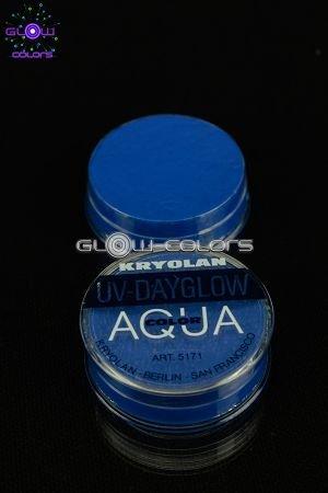 Kryolan - Fard à l eau Aquacolor fluo 8g BLEU