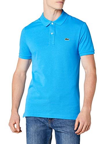 Lacoste PH4012, T-shirt Polo Uomo, Blu (Ibiza Ptv), Large (Taglia Produttore: 5)
