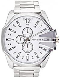Reloj hombre Louis Villiers en acero blanco 50 mm lvag8912 – 24