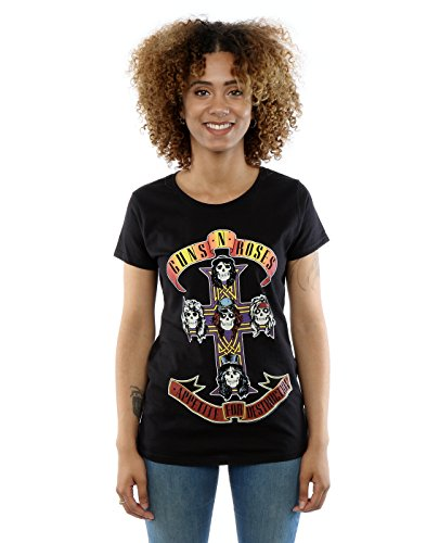 Guns N Roses Donna Appetite For Destruction Maglietta Medium Nero