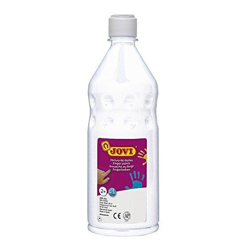 Jovi Botella de pintura con dedos, 750 ml, color blanco (56201)